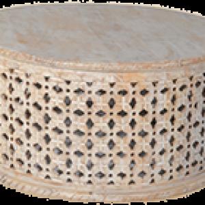 שולחן עץ תחרה קוטר 90